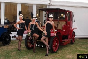forties costumes and vintage car